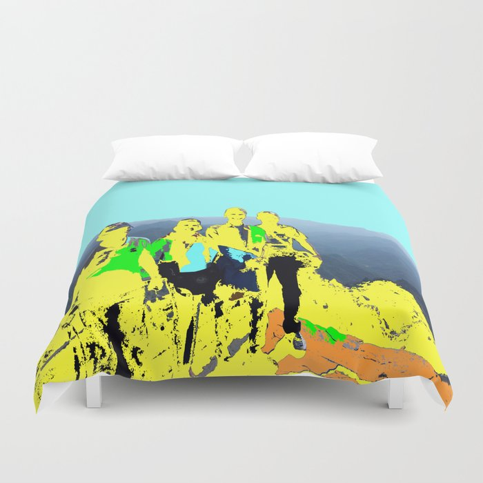 Mountain Climbers Duvet Cover