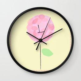 Flower L Wall Clock