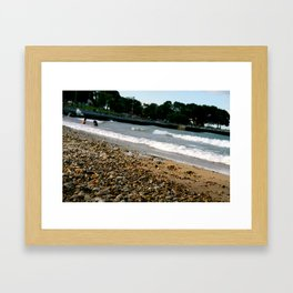 Lake Michigan Beach Framed Art Print