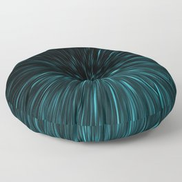 Blue and black Hypergalaxy Floor Pillow