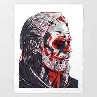 sons of anarchy Art Prints featuring Duality - Sons of Anarchy by Steve Treadwell