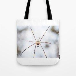 Golden silk orb weaver Tote Bag
