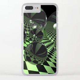 uphill downhill -3- Clear iPhone Case