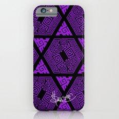 Kagome Greek Fret ... Purple iPhone 6s Slim Case