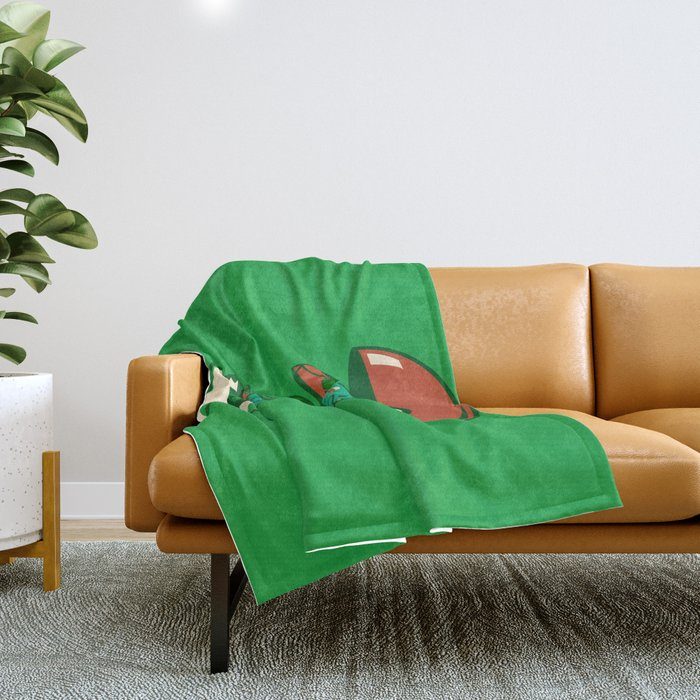 Poketryoshka - Grass Type Throw Blanket
