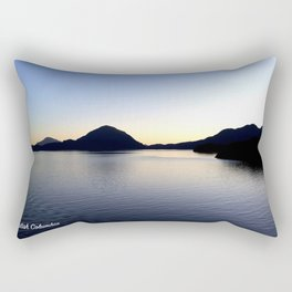 Salish Sea Sunset - Canada - With Text Rectangular Pillow