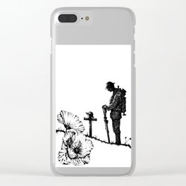Lest We Forget - Remembrance Day Clear iPhone Case