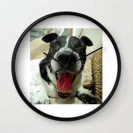 Yawning Jack Russel Wall Clock