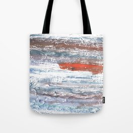 Orange blue stained watercolor pattern Tote Bag
