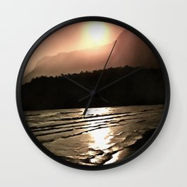 Overwhelming Waves of Sadness Wall Clock