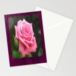 Pink Roses in Anzures 4 Blank P8F0 Stationery Cards