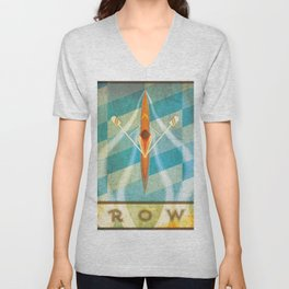 The Serenity of Rowing Unisex V-Neck
