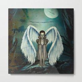 Beautiful angel in the night Metal Print
