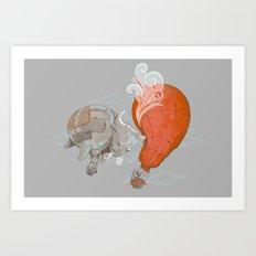 Hot Air BULLoon Art Print