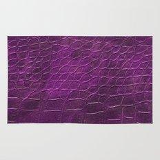 Alligator leather like pink Rug