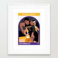 lakers Framed Art Prints featuring Marshon Brooks by Everyplayerintheleague