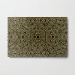 Texture background mandala Metal Print