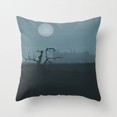 House on the Moors Throw Pillow