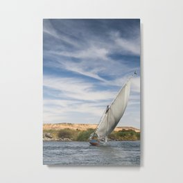 Crossing the Nile Metal Print