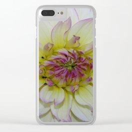 Dahlia Pastel Tones Clear iPhone Case