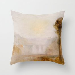 Joseph Mallord William Turner - The Ponte Delle Torri, Spoleto Throw Pillow