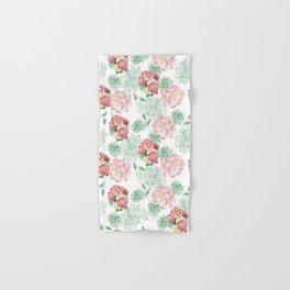 Peony and Hydrangea Pattern Hand & Bath Towel