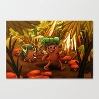 packers Canvas Prints featuring BACK PACKERS by Colton Balske