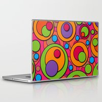 polka dots Laptop & iPad Skins featuring Polka Dots by Shelly Bremmer