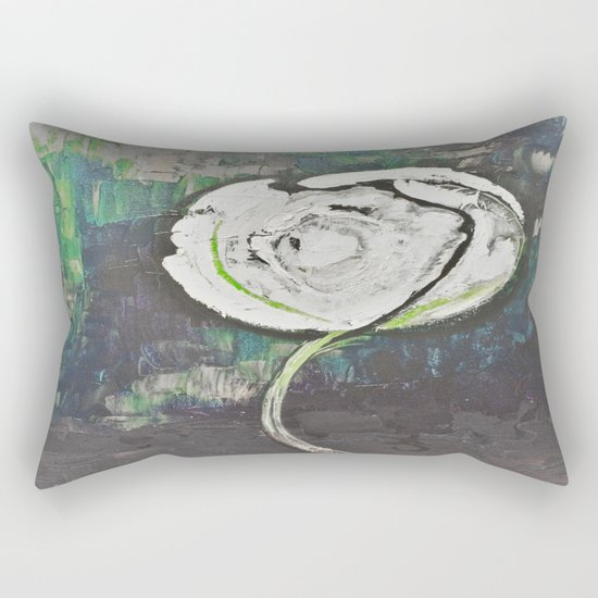 Golden Rose Acrylic Icey Green Mint Chocolate Chip Rectangular Pillow