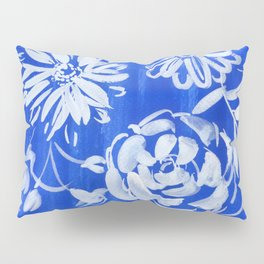 blue and white: flowers N.o 1 Pillow Sham