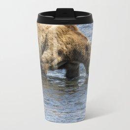Brown Bear Going for a Dip Travel Mug