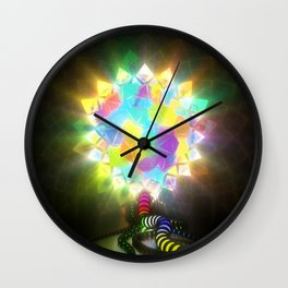 ELECTRIC STAINED GLASS Wall Clock