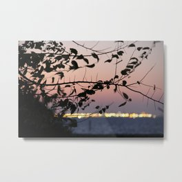Sunrise during total eclipse of the moon  Metal Print