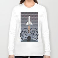 gravity Long Sleeve T-shirts featuring Gravity by milanova