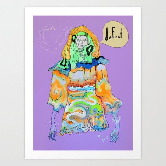 DEFEAT Art Print