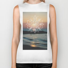 Twilight Mandala Ocean Bliss Dream #3 #sunset #decor #art #society6 Biker Tank