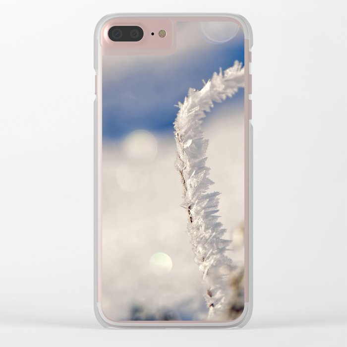 Sparkling hoar frost I Winter Snow Ice Sun Clear iPhone Case