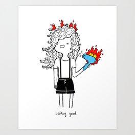 On Fire by Sarah Pinc Art Print