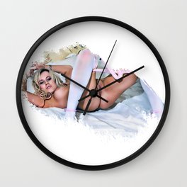 Lil Miss Stockings Wall Clock