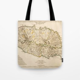 Map Of Grenada 1771 Tote Bag