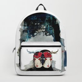 Poor Impulse Control Great Minded Brained Twins Backpack