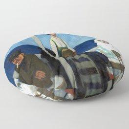 Edward Hopper Soir Bleu Floor Pillow