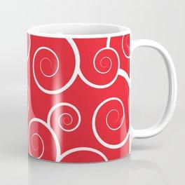 Spiral Waves (Red) Coffee Mug
