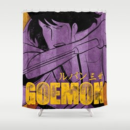 035 Goemon Vintage Shower Curtain