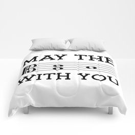 May the 4th be with you (light colors/alto clef) Comforters