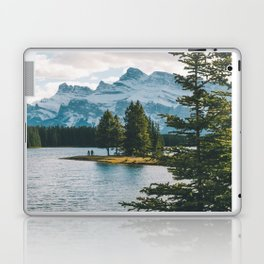Two Jack Lake & Mt. Rundle Laptop & iPad Skin
