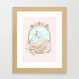 The shabby Swan Framed Art Print