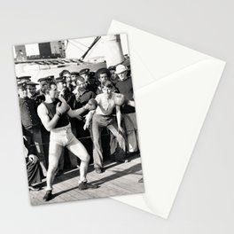 Boxing on a Naval Ship, 1899 Stationery Cards