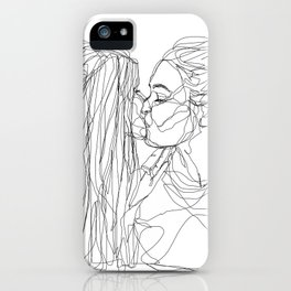Girls kiss too iPhone Case