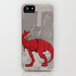 Daredevilnotauros - Superhero Dinosaurs Series iPhone Case
